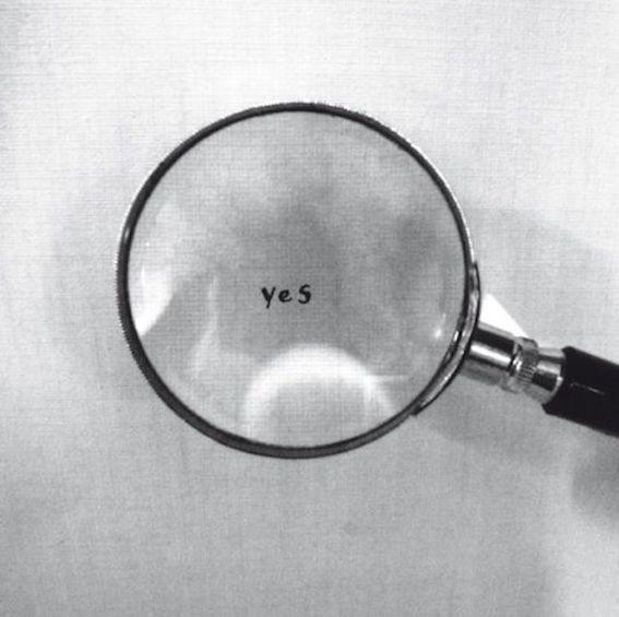 פרט מ - ״Ceiling painting / Yes painting״, יוקו אונו, 1966